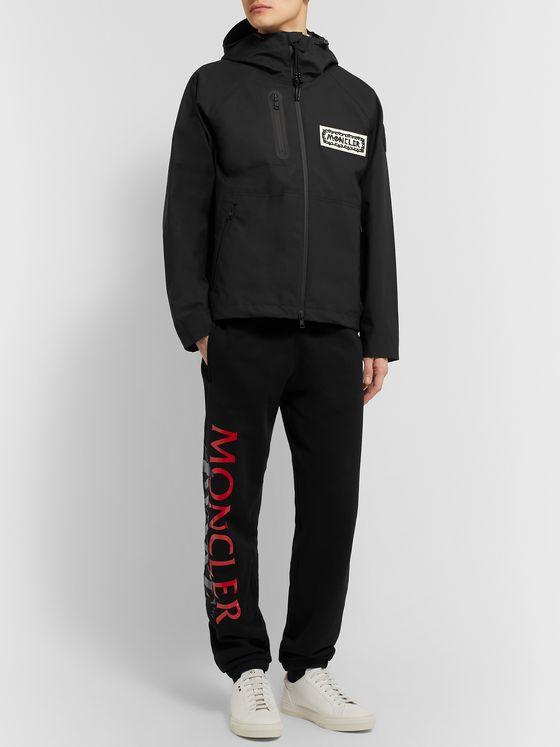Moncler Genius 2 Moncler 1952 Logo-Appliquéd Cotton and Linen-Blend Hooded Jacket