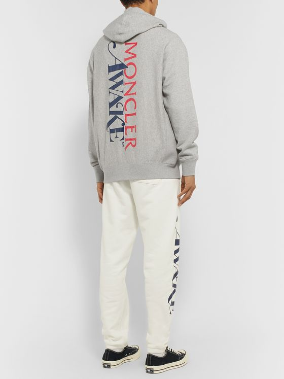 Moncler Genius + Awake NY 2 Moncler 1952 Logo-Detailed Fleece-Back Cotton-Jersey Hoodie