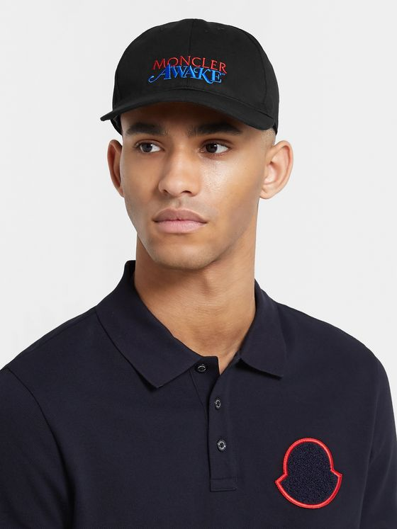 Moncler Genius 2 Moncler 1952 Awake Logo-Embroidered Cotton-Twill Baseball Cap