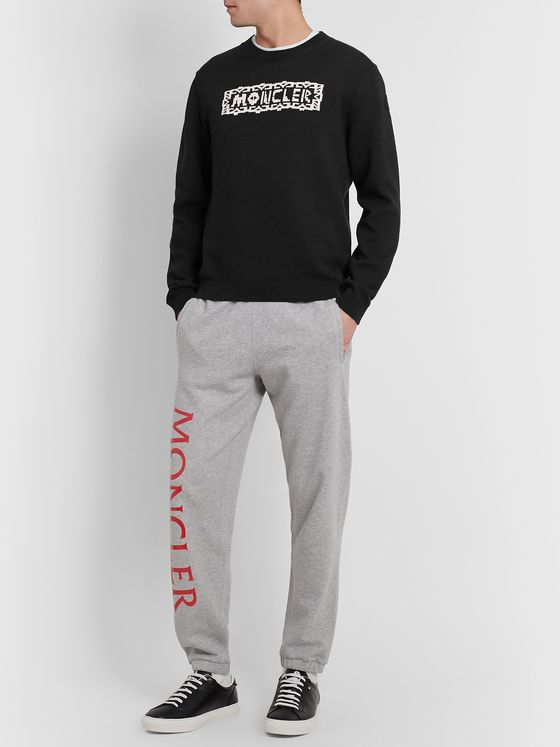 Moncler Genius Logo-Intarsia Cotton-Blend Sweater