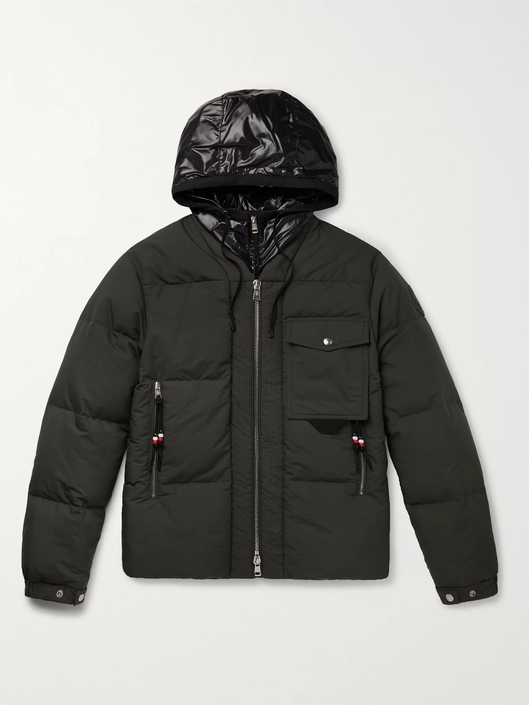 Moncler Genius 2 Moncler 1952 Nylon and Quilted Shell Down Hooded Jacket