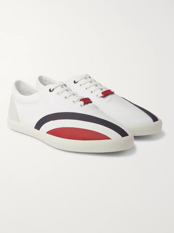 Moncler Genius Suede, Rubber and Canvas Sneakers