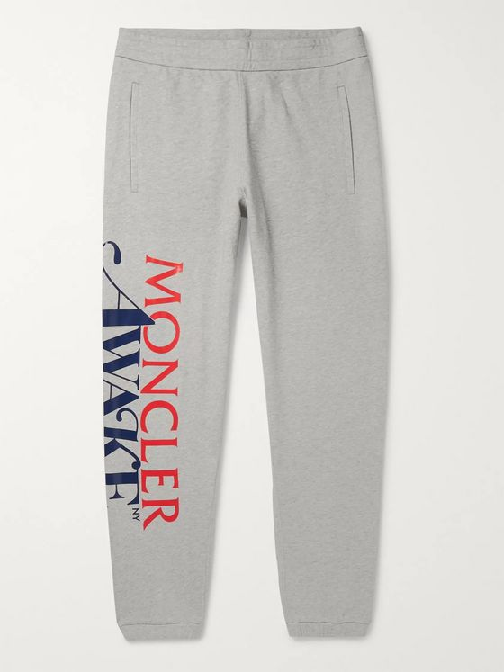 Moncler Genius + Awake NY 2 Moncler 1952 Tapered Logo-Print Cotton-Jersey Sweatpants
