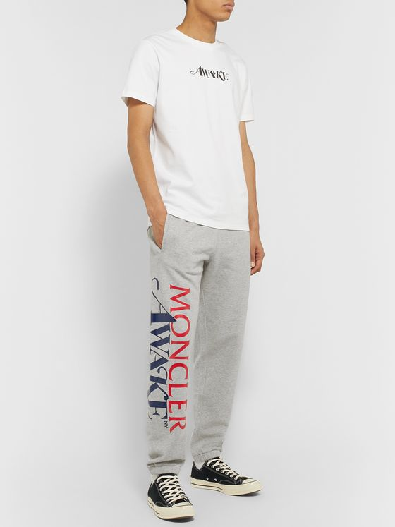 Moncler Genius + Awake NY 2 Moncler 1952 Tapered Logo-Detailed Loopback Cotton-Jersey Sweatpants