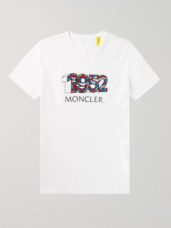 Moncler Genius 2 Moncler 1952 Logo-Detailed Cotton-Jersey T-Shirt