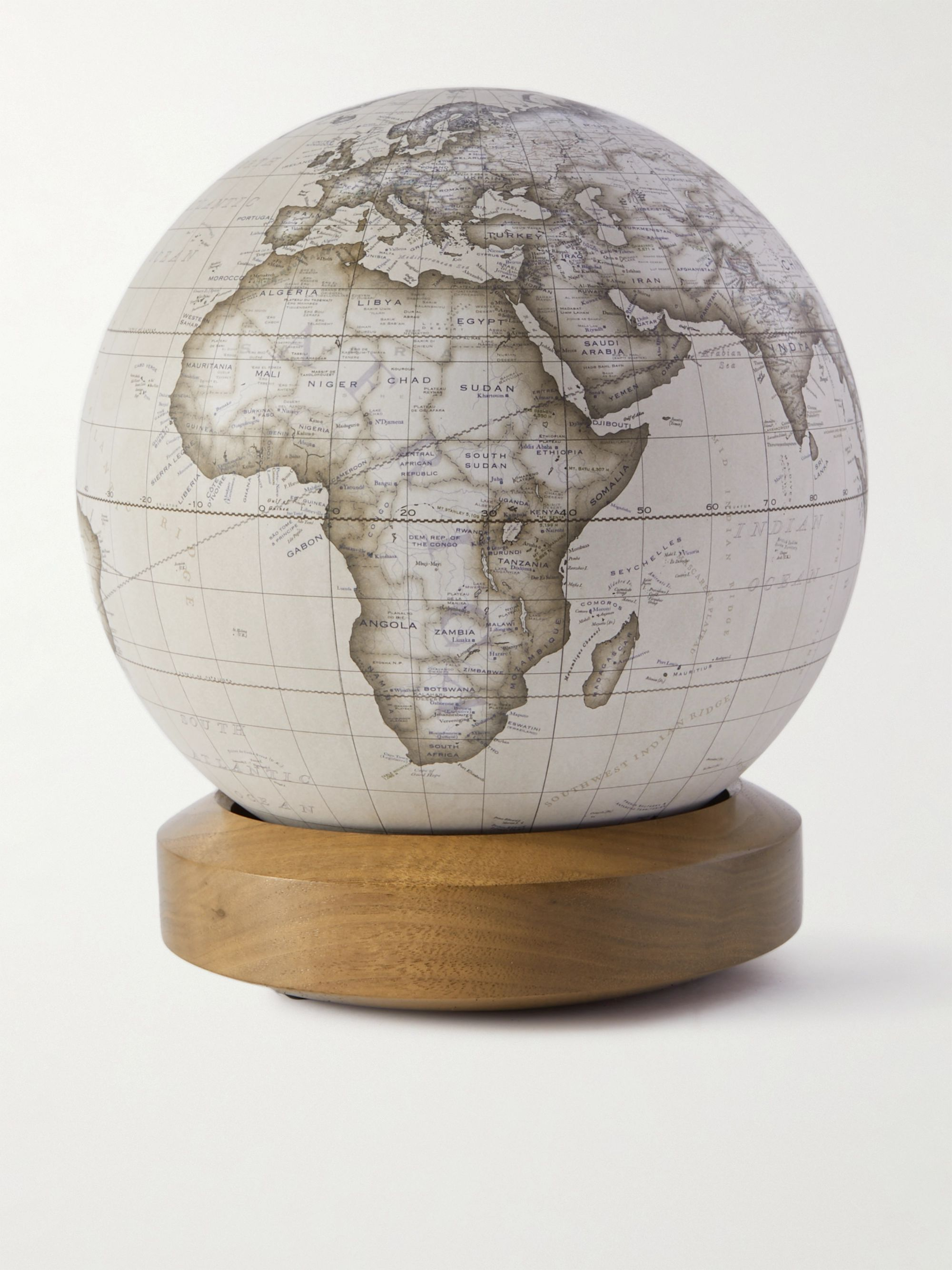 Bellerby & Co Globemakers Albion Resin and Walnut Mini Desk Globe