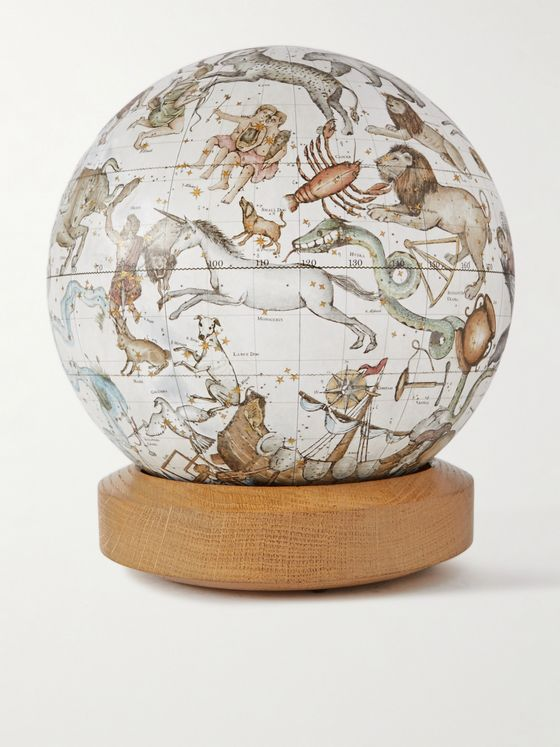 Bellerby & Co Globemakers Albion Celestial Resin and Oak Mini Desk Globe