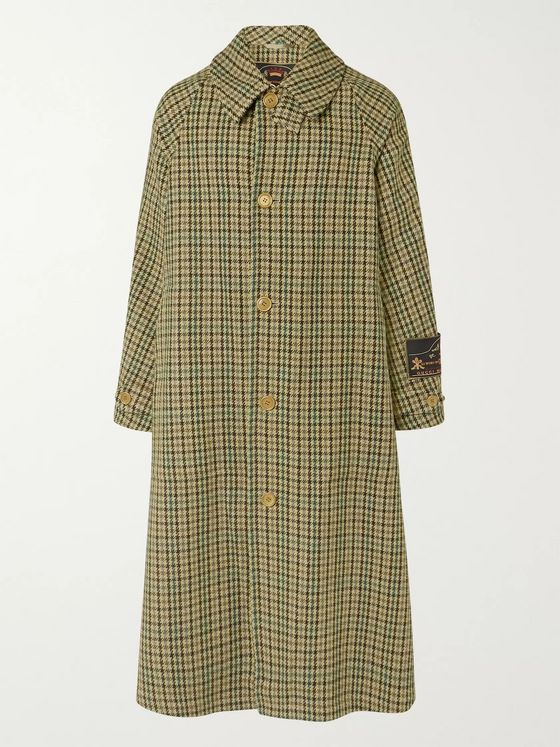 Gucci Oversized Houndstooth Wool-Blend Coat