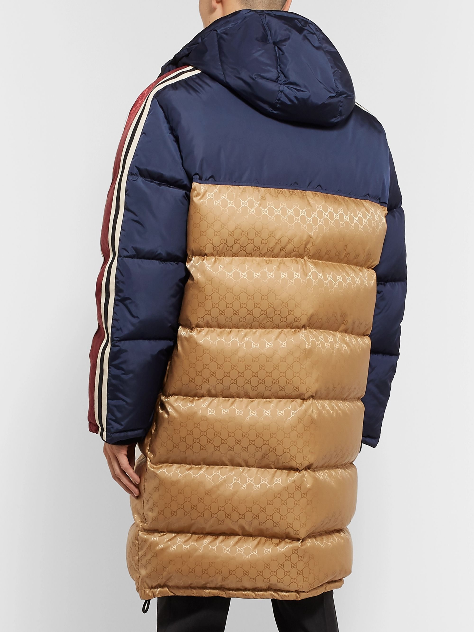 Gucci Oversized Quilted Logo-Jacquard Shell Hooded Down Jacket