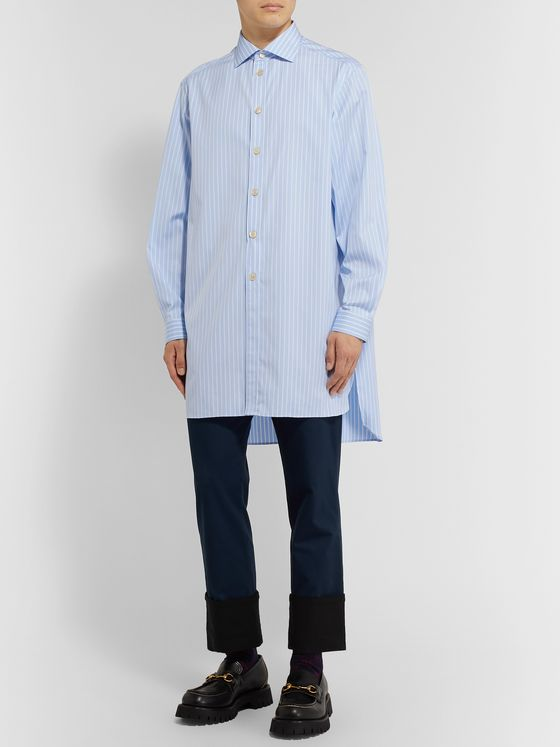 GUCCI Oversized Striped Cotton-Poplin Shirt