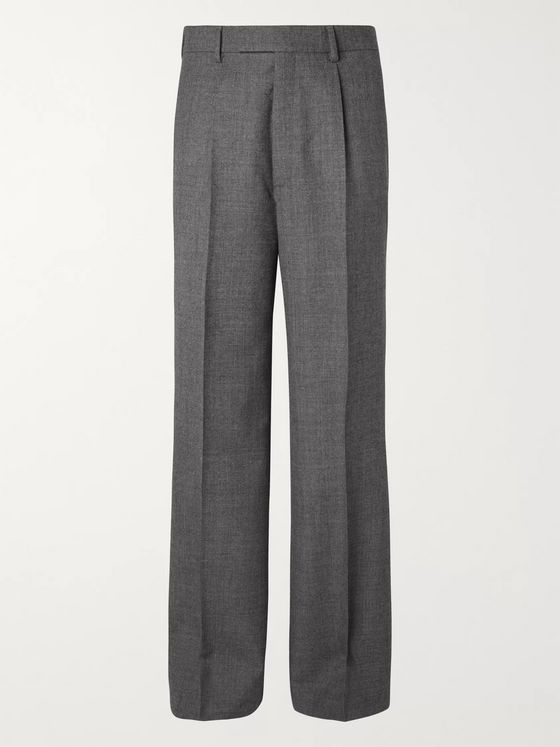 Gucci Dark-Grey Wide-Leg Wool-Sharkskin Suit Trousers