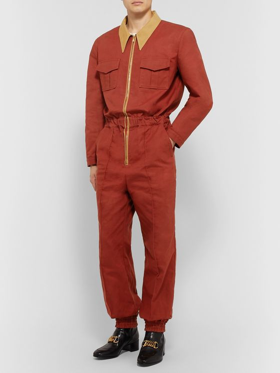 Gucci Slim-Fit Tapered Cotton-Canvas Boilersuit