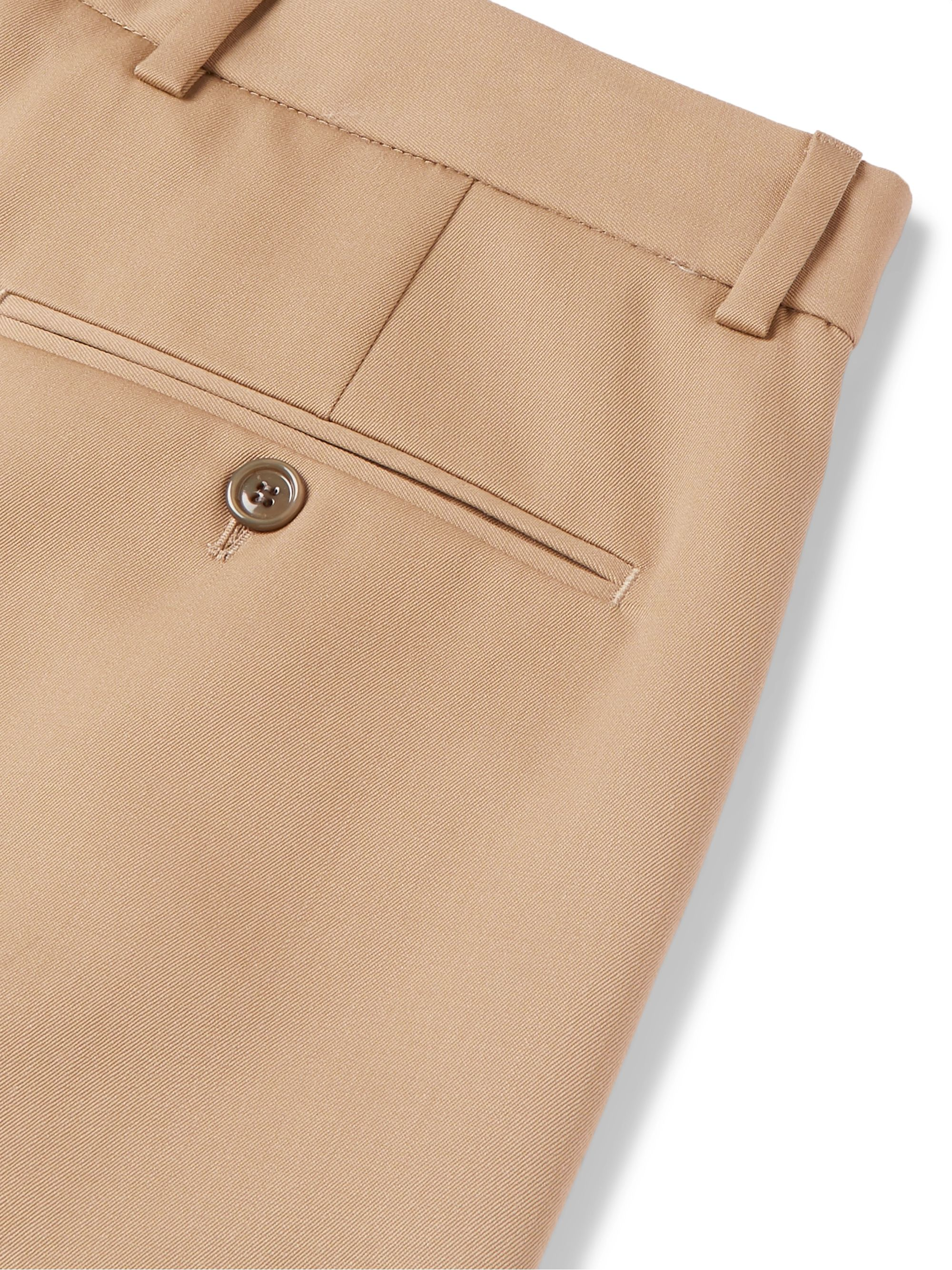 Gucci Tapered Pleated Wool-Twill Trousers
