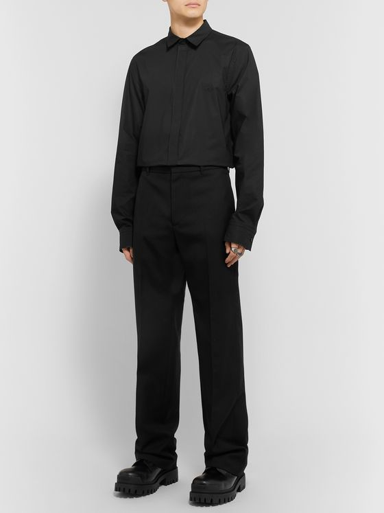 Balenciaga Stretch-Poplin Shirt