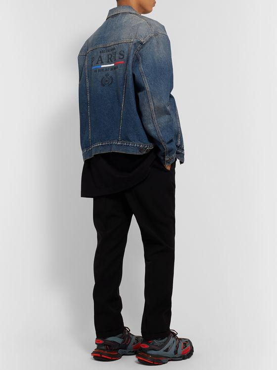 Balenciaga Oversized Embroidered Denim Jacket
