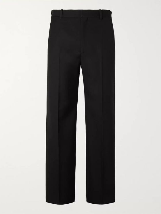 Balenciaga Black Virgin Wool-Gabardine Trousers