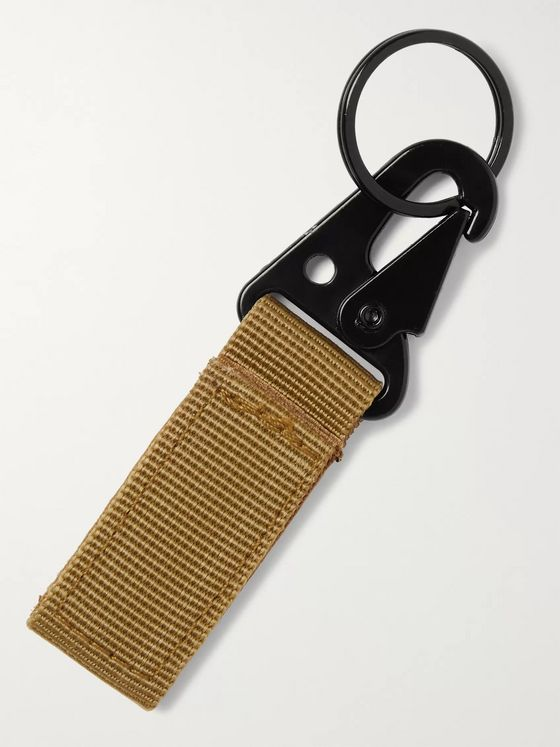 Satta Logo-Detailed Webbing Key Fob