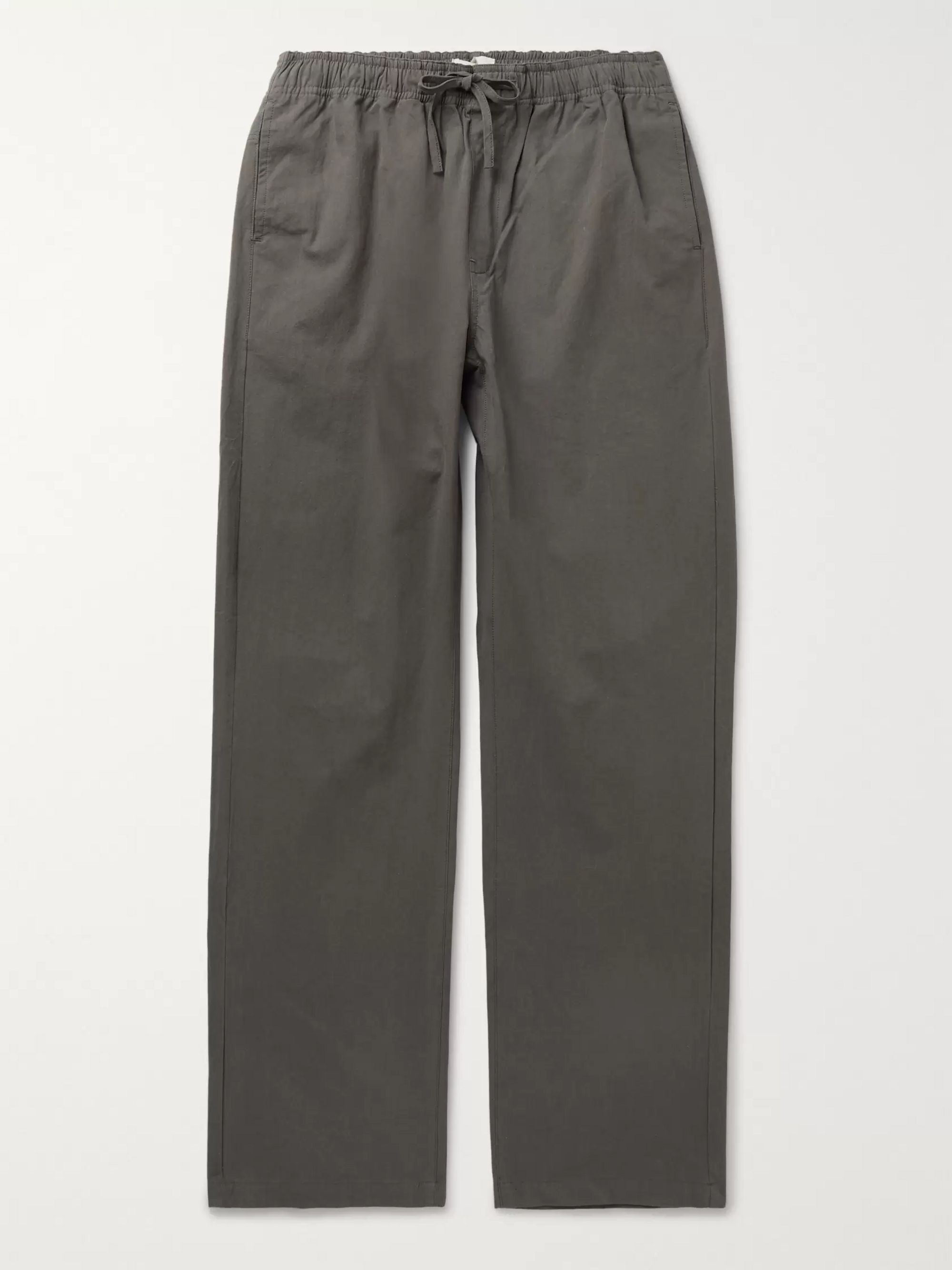 Satta Kai Peached Cotton-Poplin Drawstring Trousers