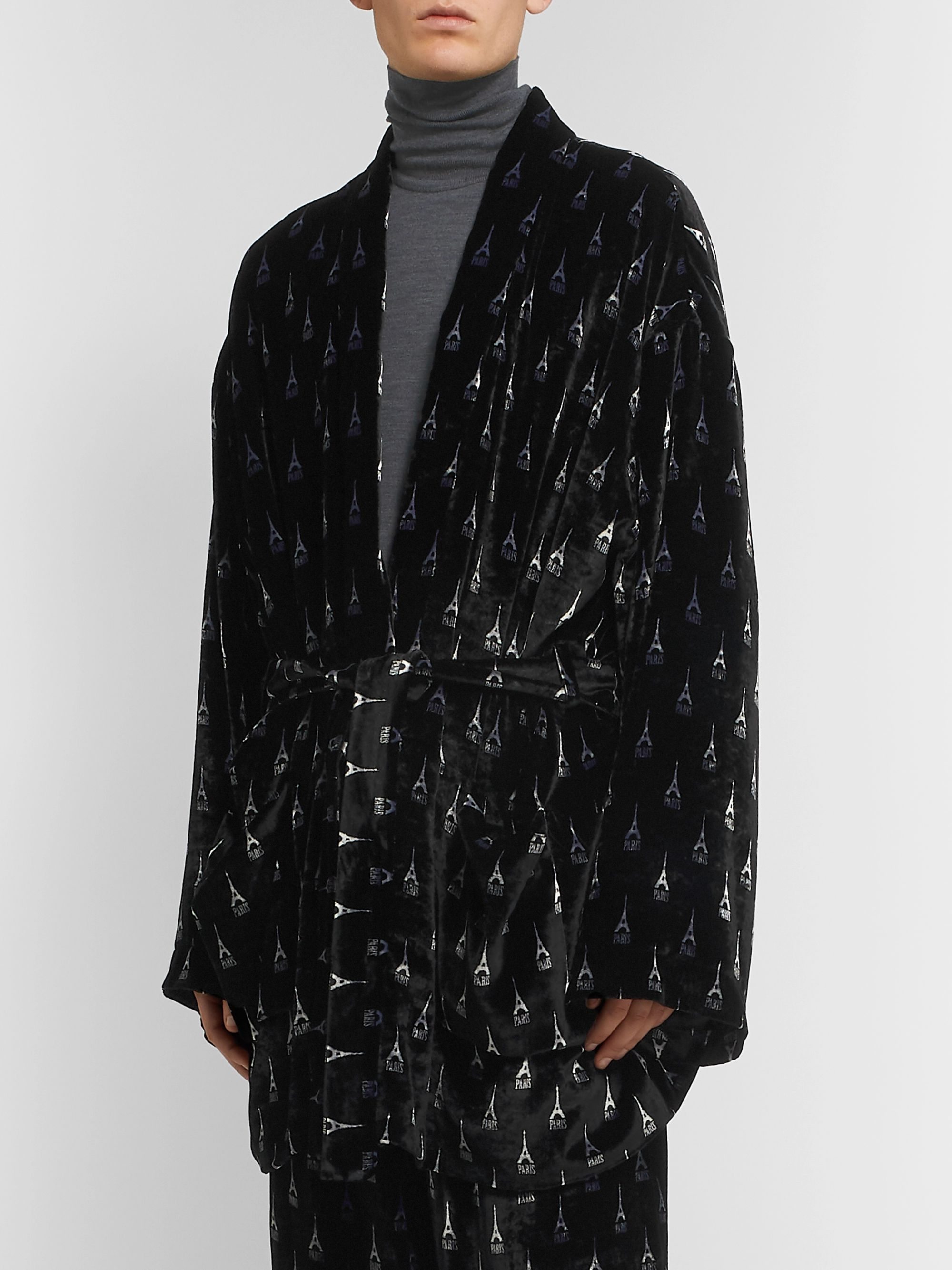 Balenciaga Printed Velour Jacket
