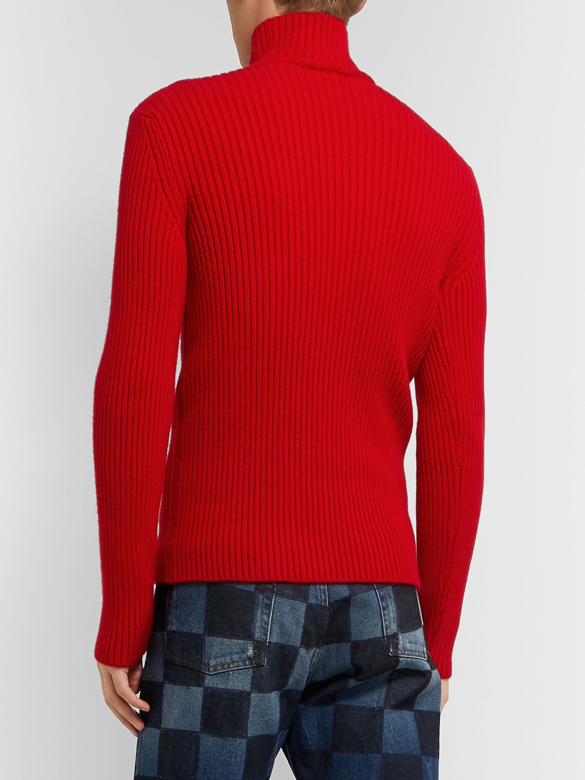 Balenciaga Slim-Fit Ribbed Cashmere-Blend Rollneck Sweater