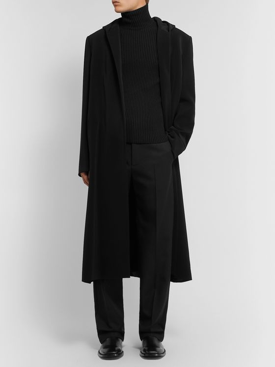 Balenciaga Crepe Hooded Coat
