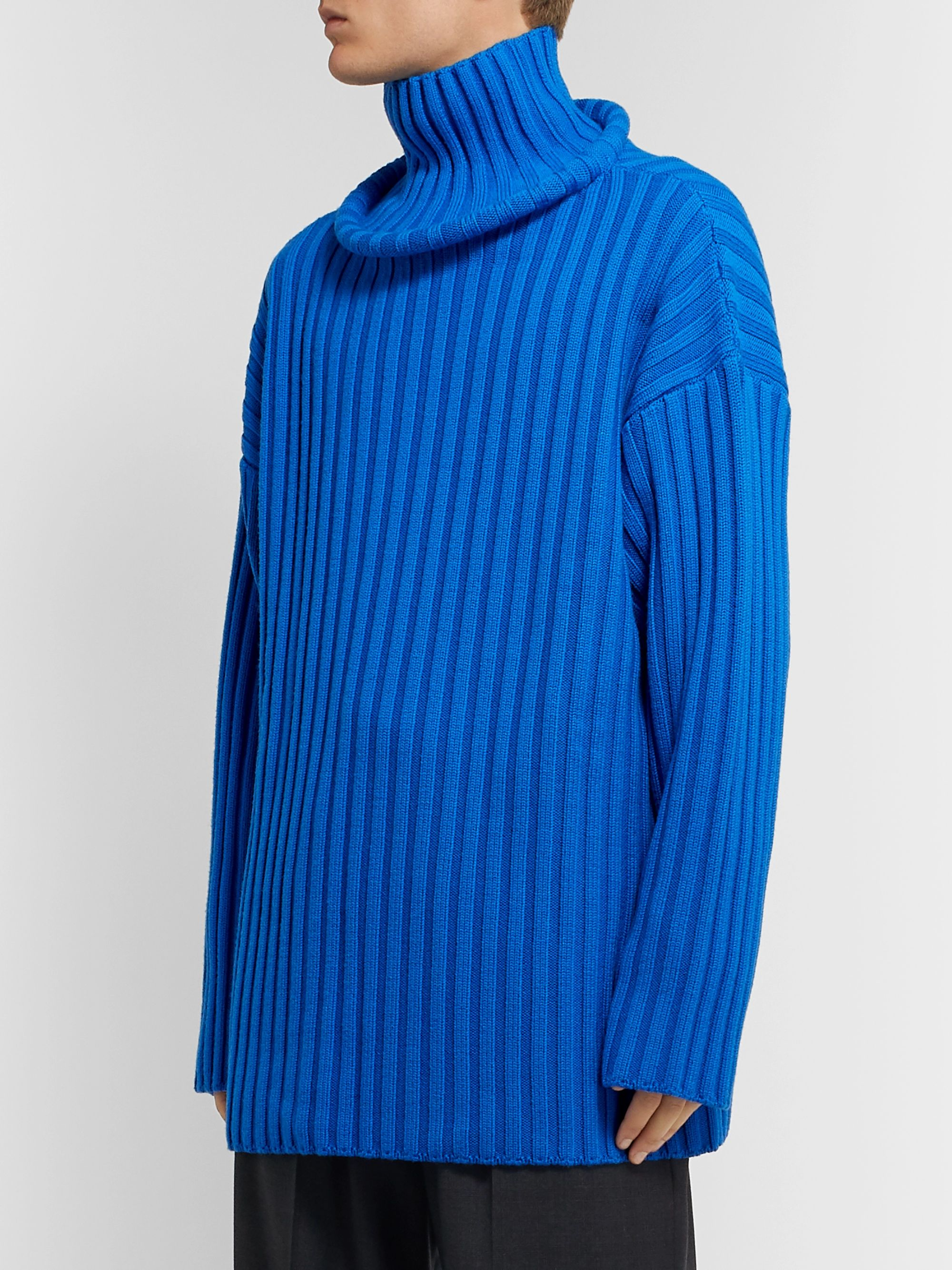 Balenciaga Ribbed Wool Rollneck Sweater