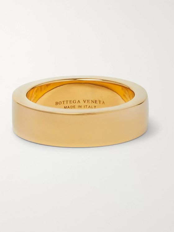 Bottega Veneta Gold-Tone Silver Ring