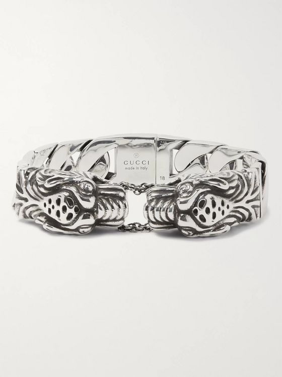 Gucci Tiger Head Sterling Silver Bracelet