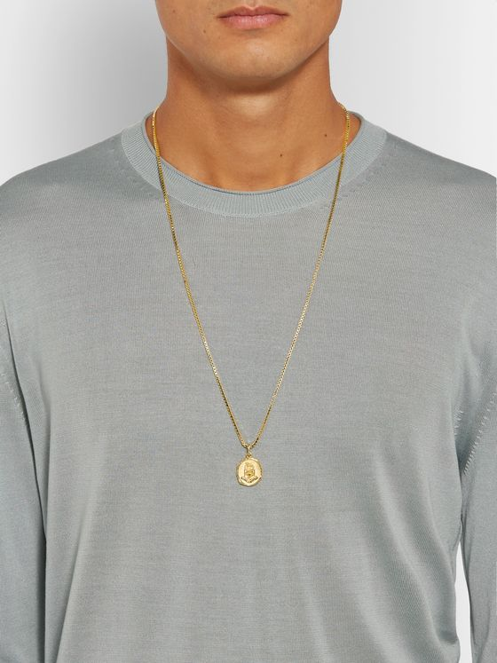 Bottega Veneta Gold-Tone Pendant Necklace