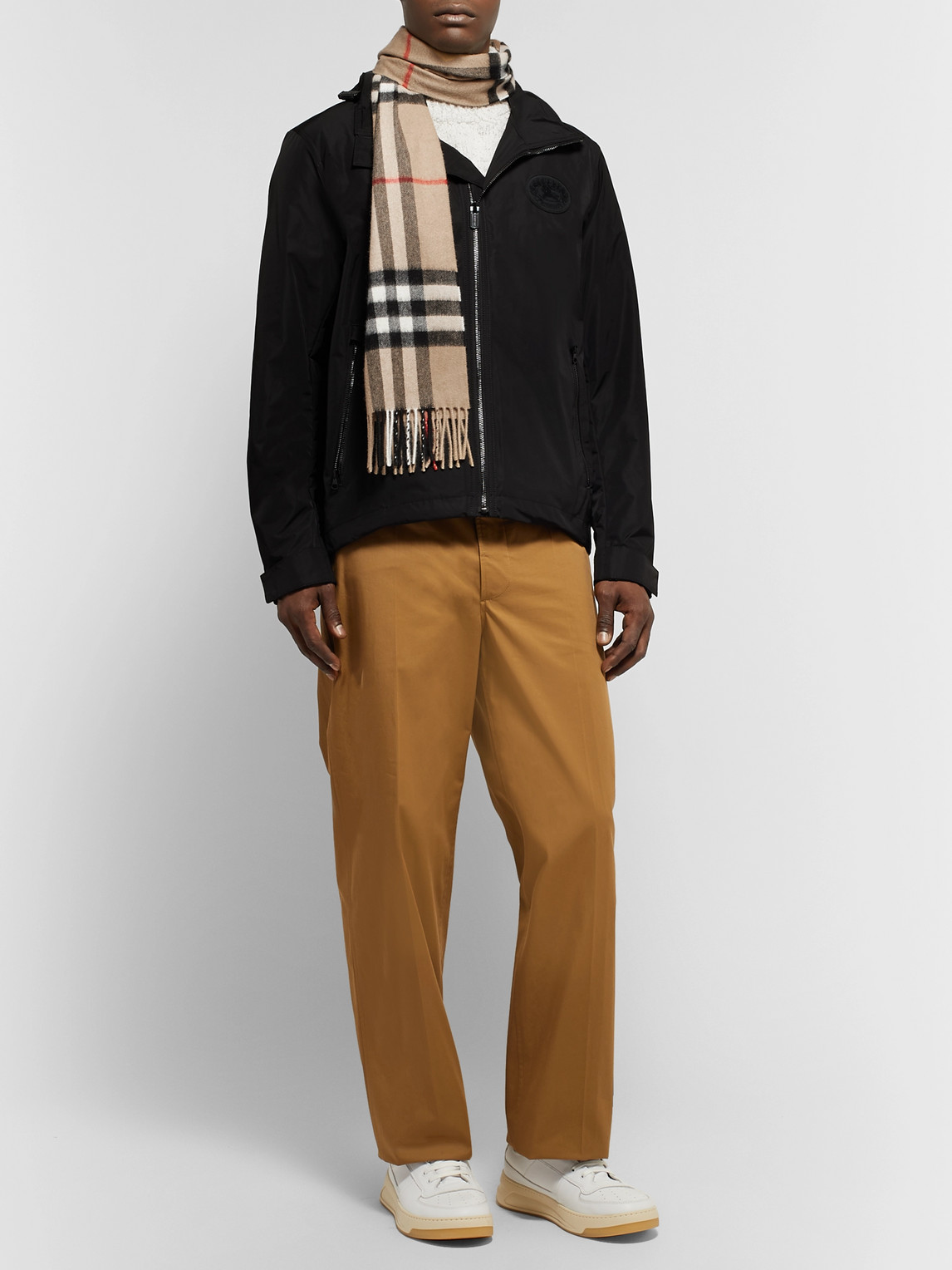 Burberry Accessories FRINGED CHECKED CASHMERE SCARF