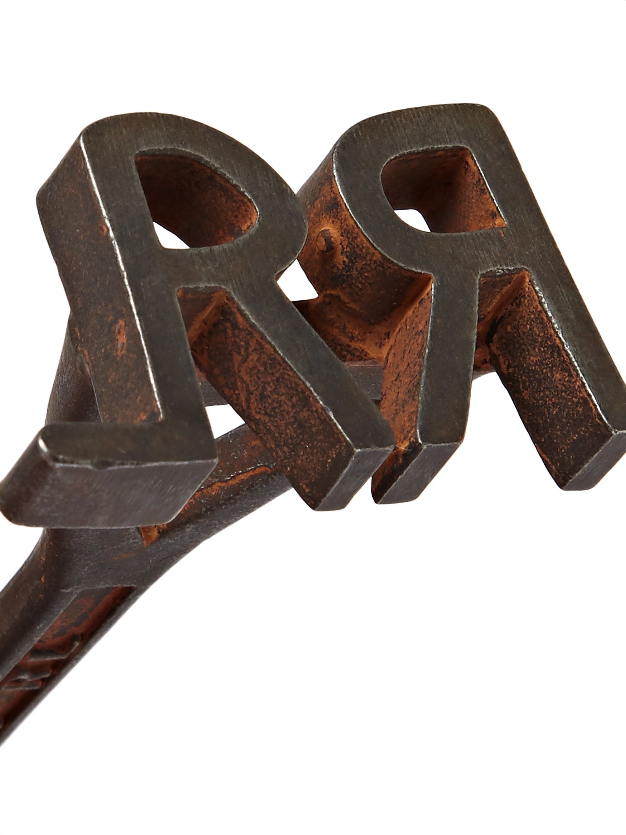 RRL Logo-Detailed Metal Bottle Opener