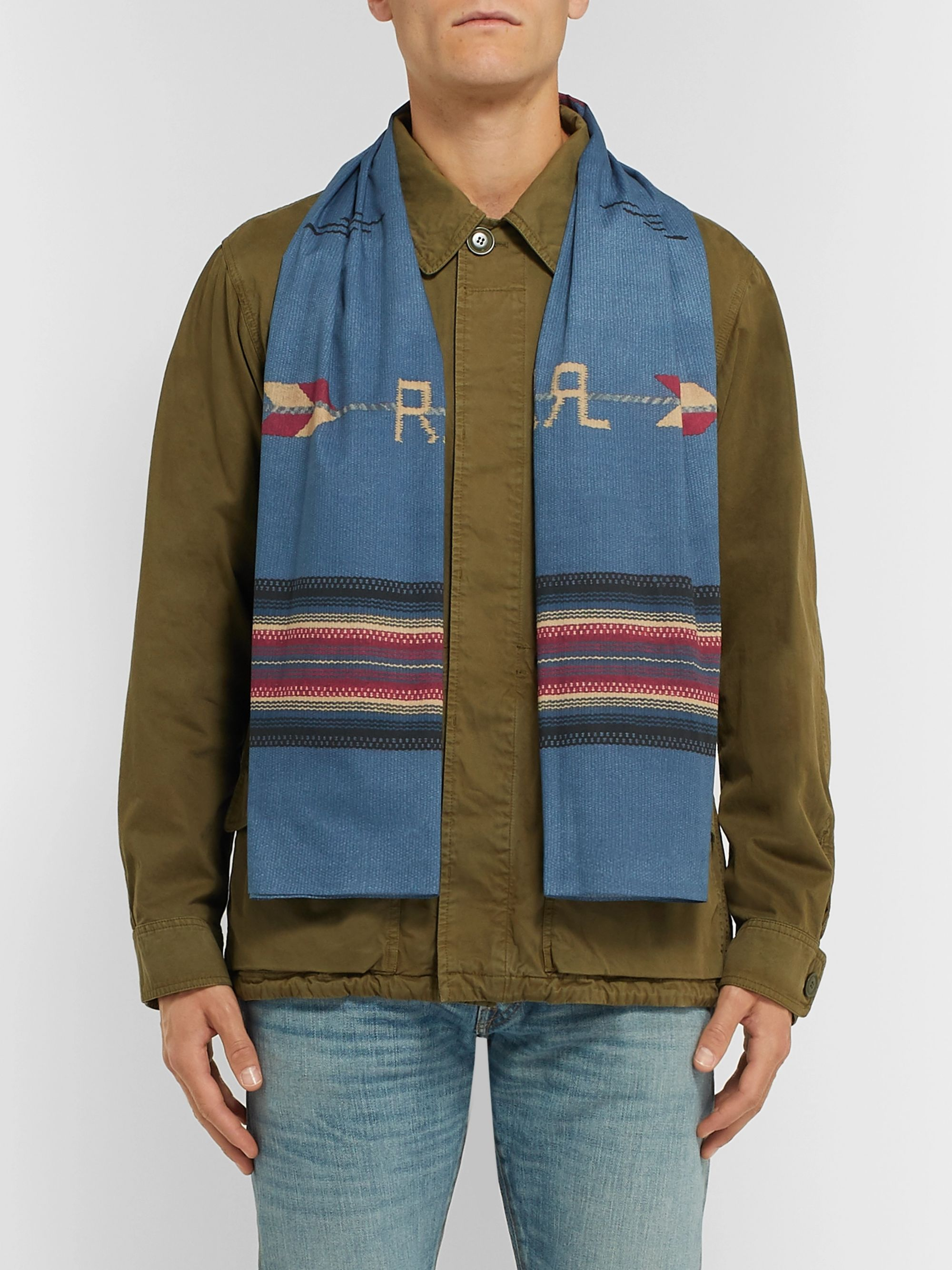 RRL Printed Cotton-Voile Scarf
