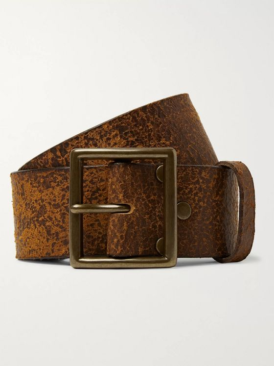 RRL 4.5cm Brown Jones Distressed Leather Belt