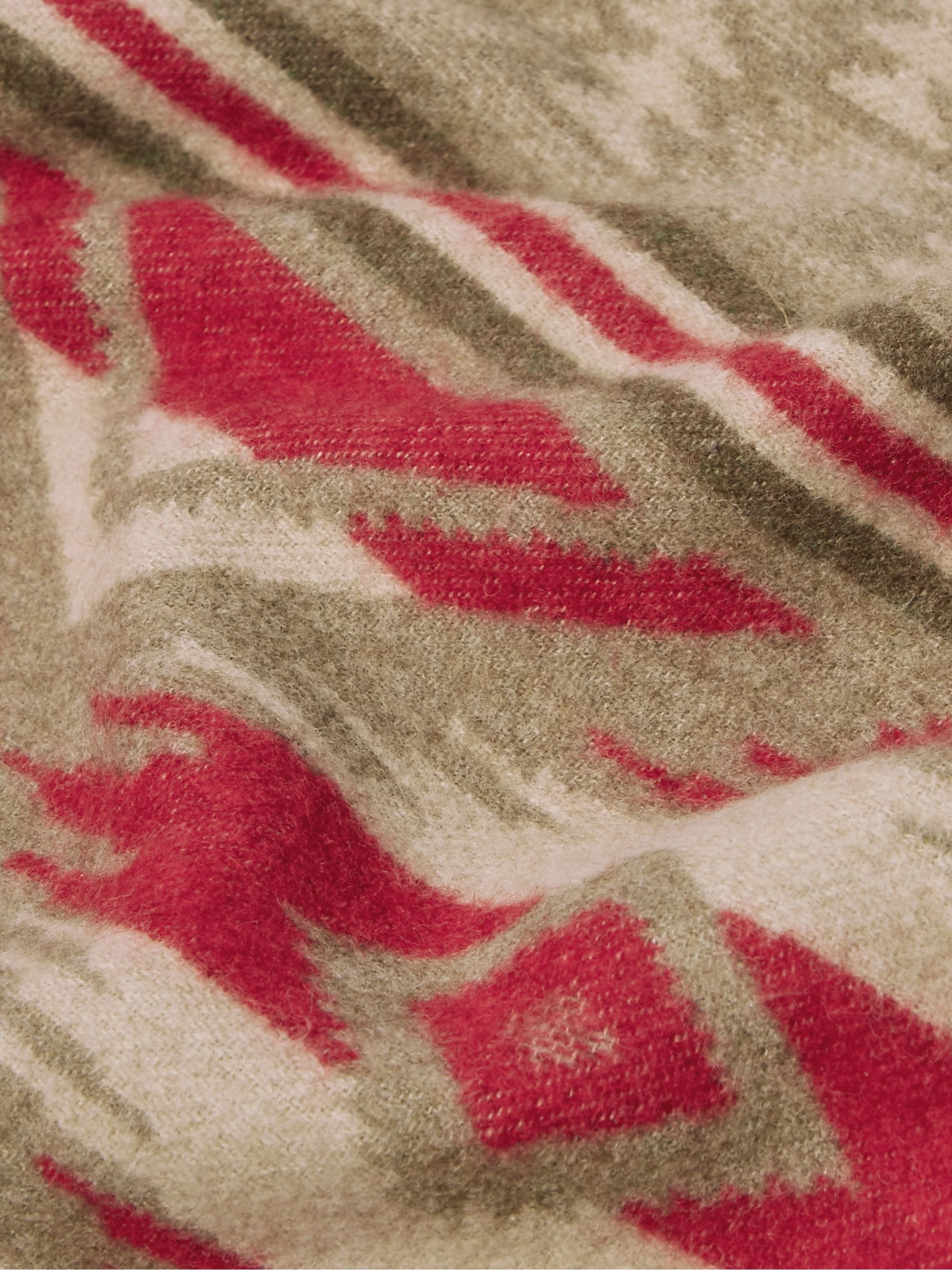 RRL Cotton and Wool-Blend Jacquard Blanket