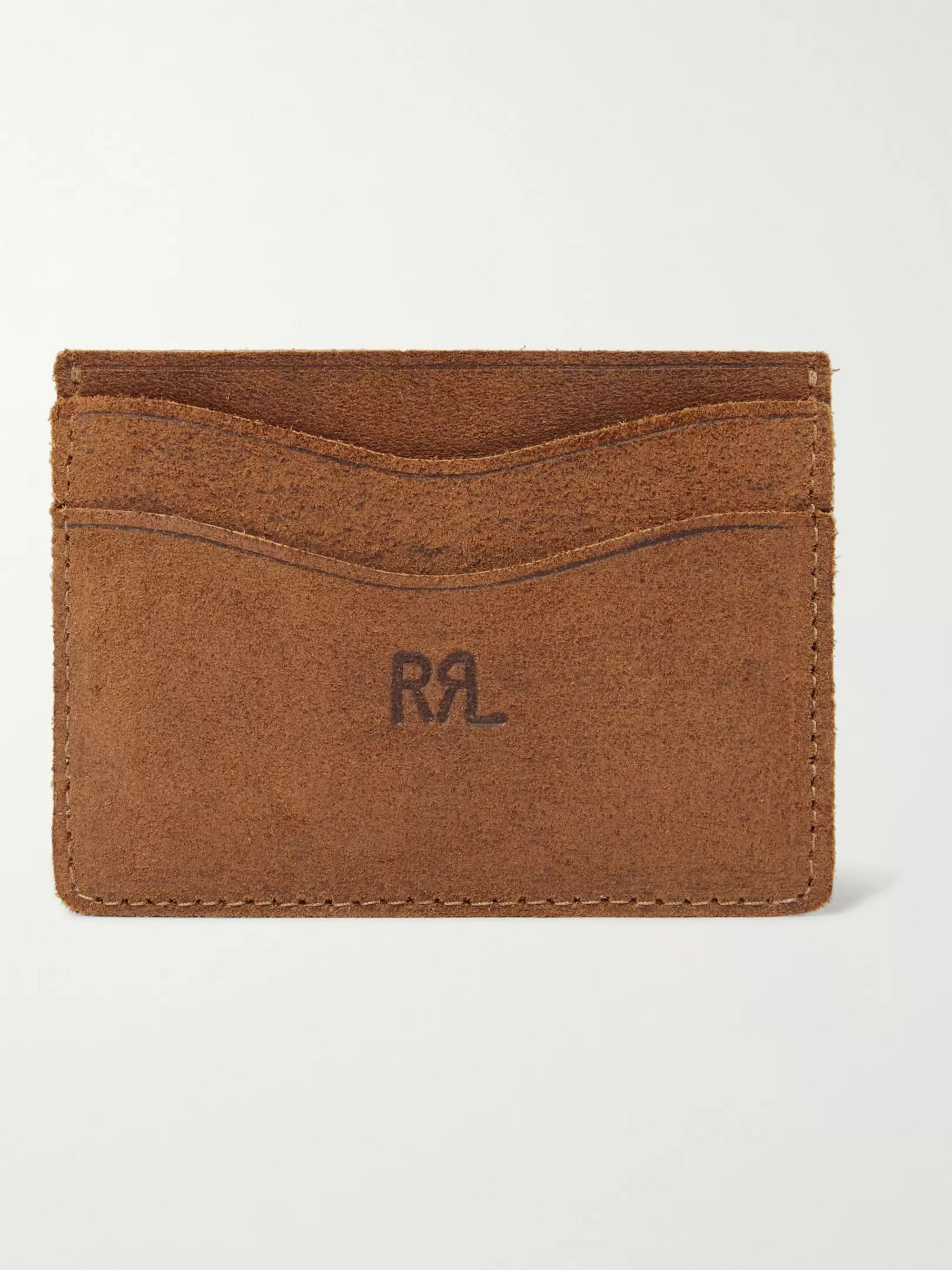 Roughout Leather Cardholder by Rrl