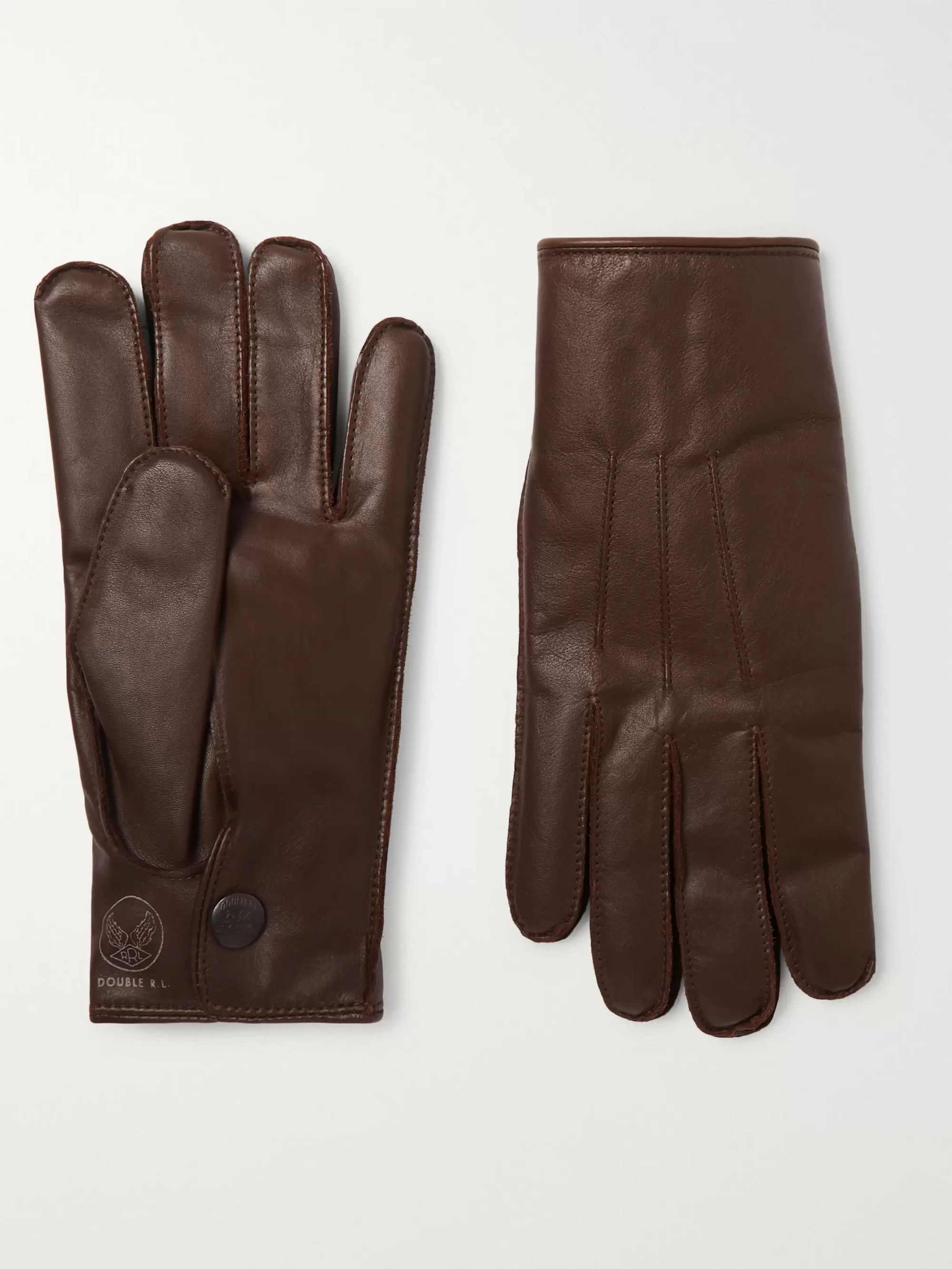 Cashmere Lined Leather Gloves by Rrl