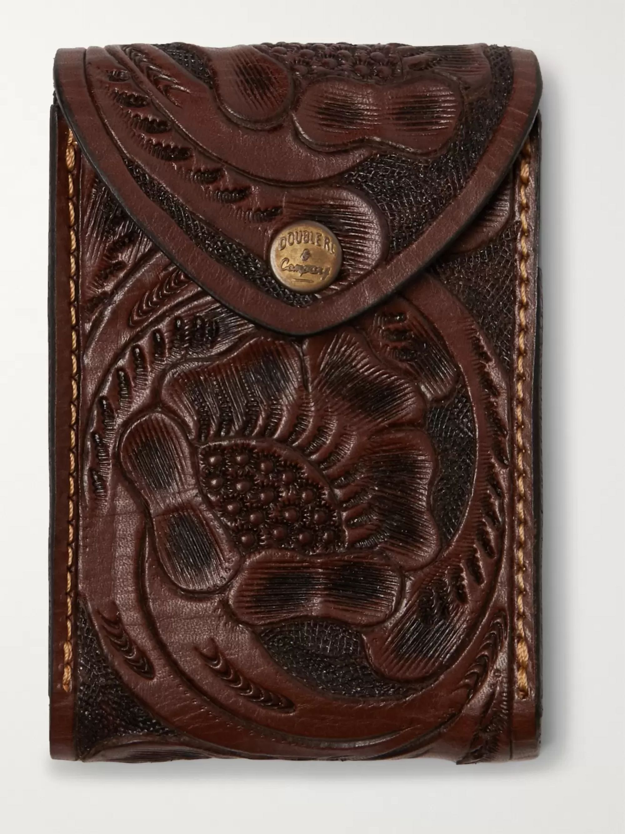 RRL Embossed Leather Playing Cards Case