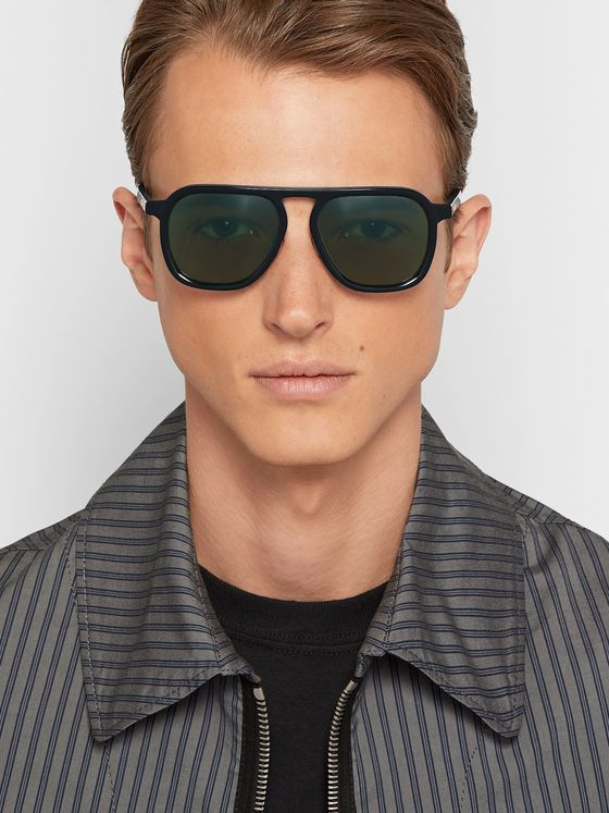Native Sons Bullitt Aviator-Style Acetate Sunglasses