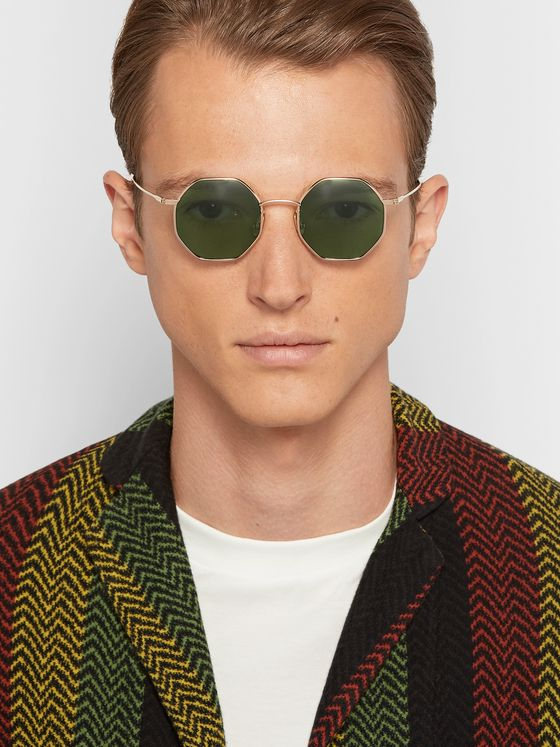 Native Sons Giger Octagon-Frame Gold-Tone Sunglasses