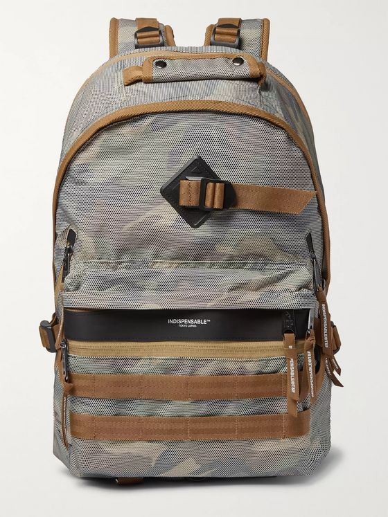 Indispensable Fusion Camouflage-Print Mesh Backpack