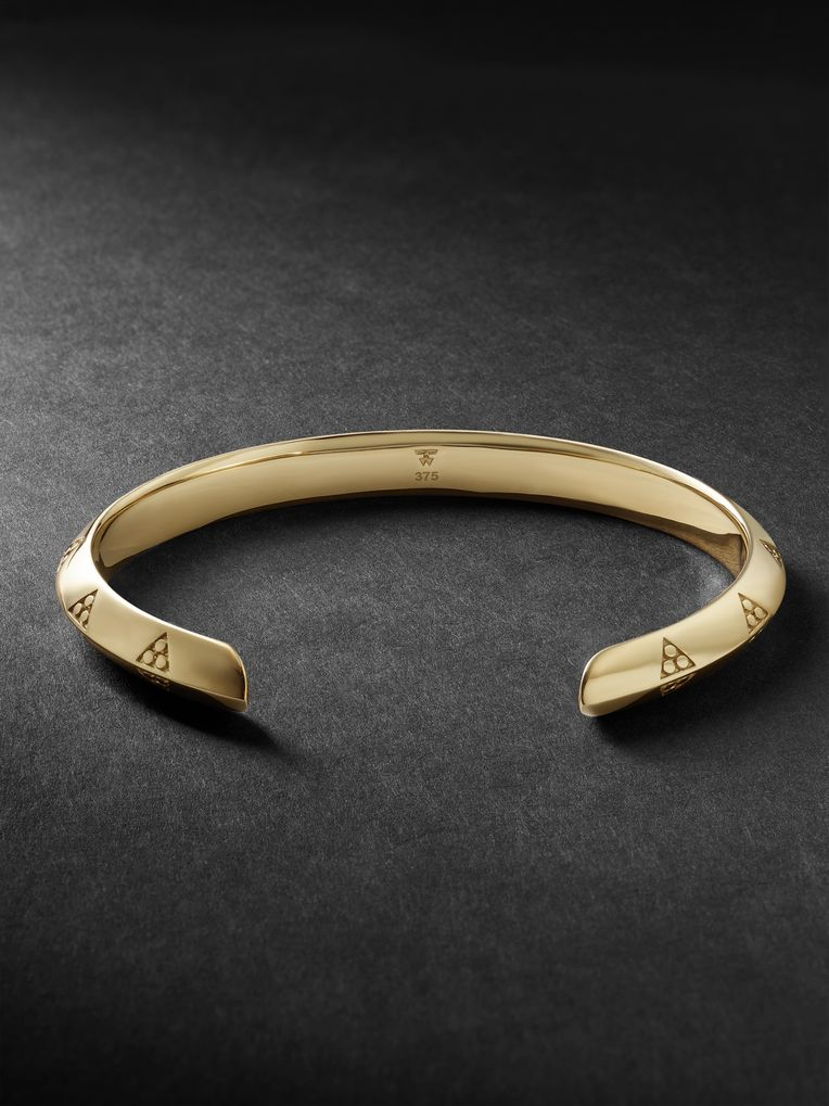 Tom Wood Viking 9-Karat Gold Cuff