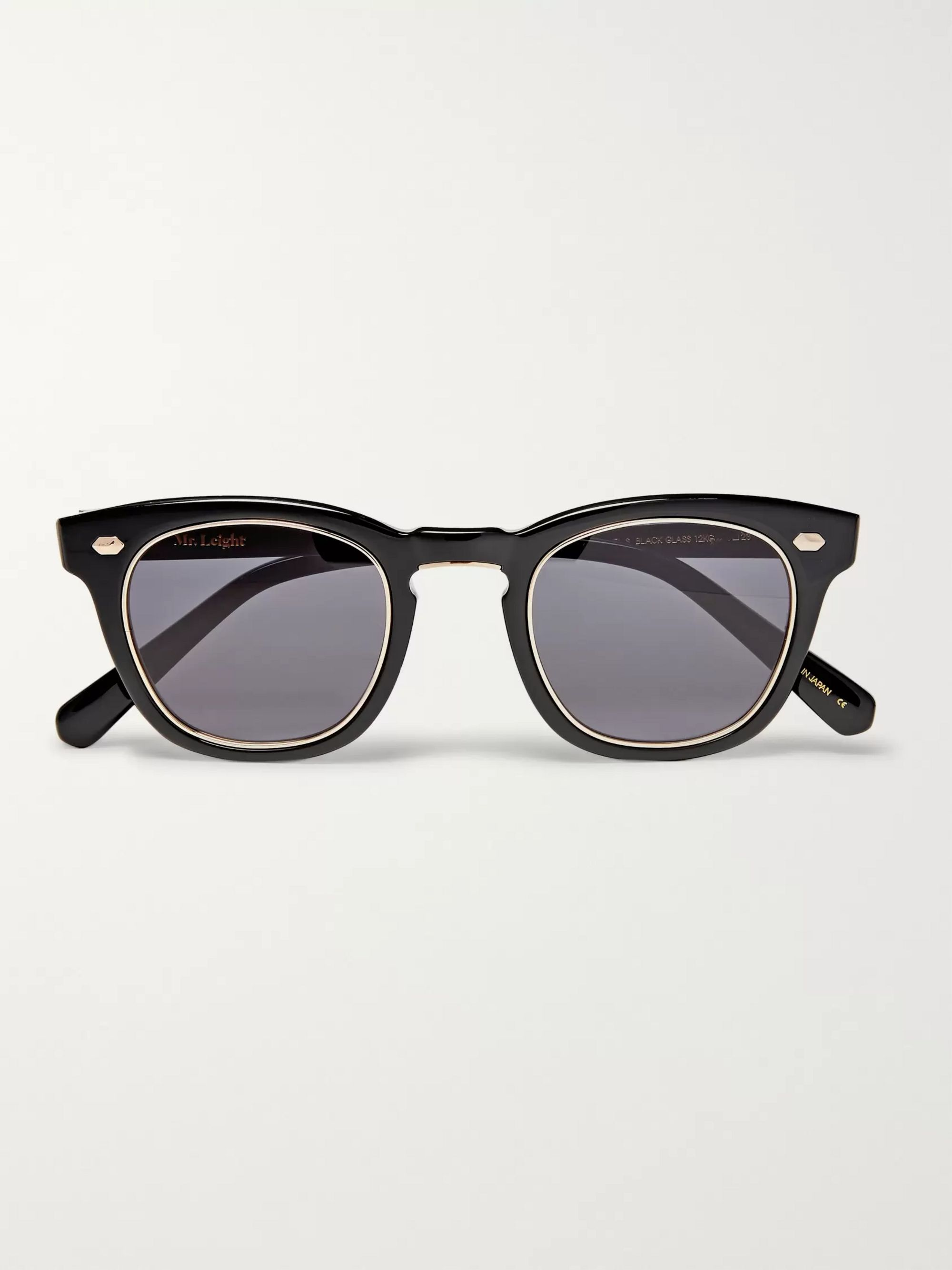 Mr Leight Hanalei S D-Frame Titanium and Acetate Sunglasses