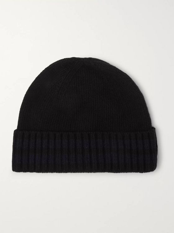 Oliver Spencer Arbury Striped Wool Beanie
