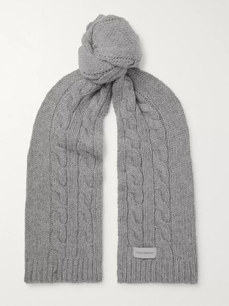 83c0681e7f Arbury Cable-Knit Wool Scarf