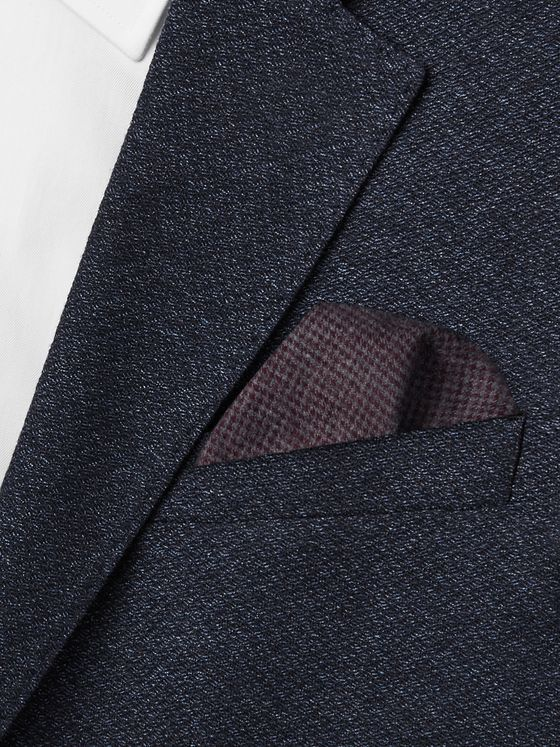 Oliver Spencer Checked Organic Cotton-Blend Pocket Square