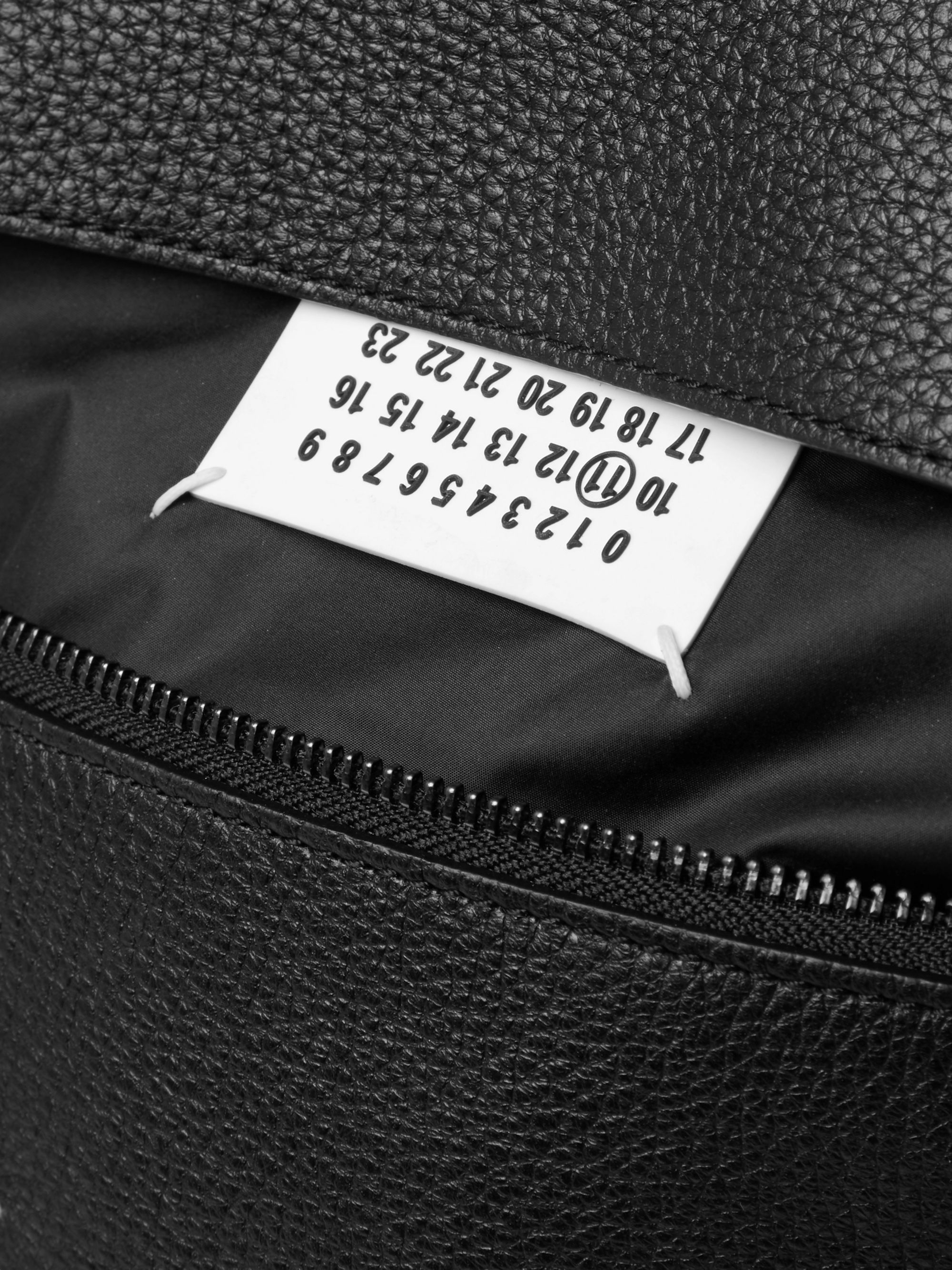 Maison Margiela Full-Grain Leather Messenger Bag
