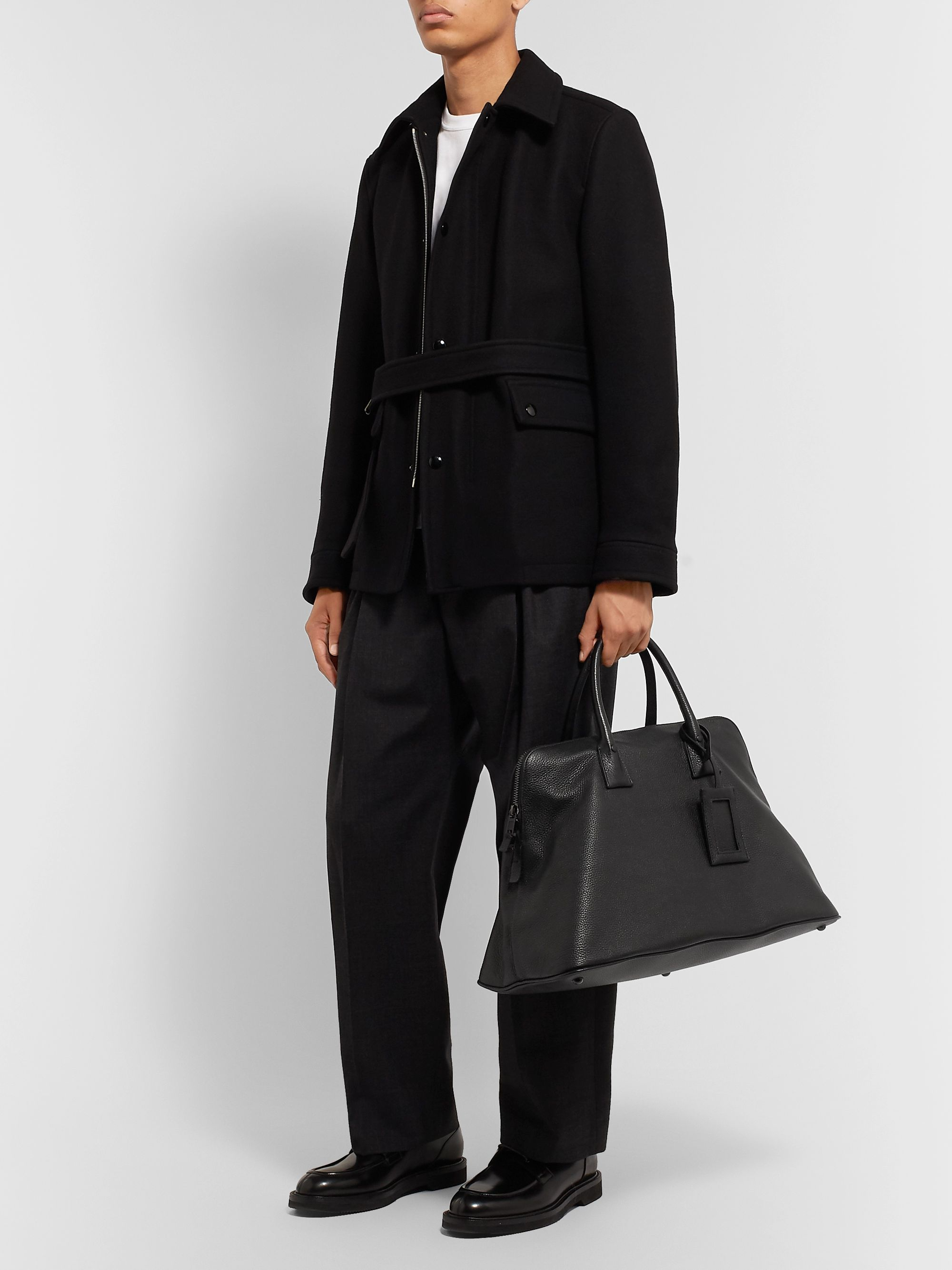 Maison Margiela Full-Grain Leather Tote Bag