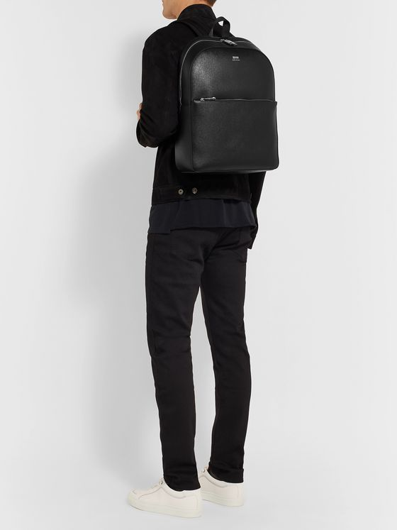 Hugo Boss Full-Grain Leather Backpack
