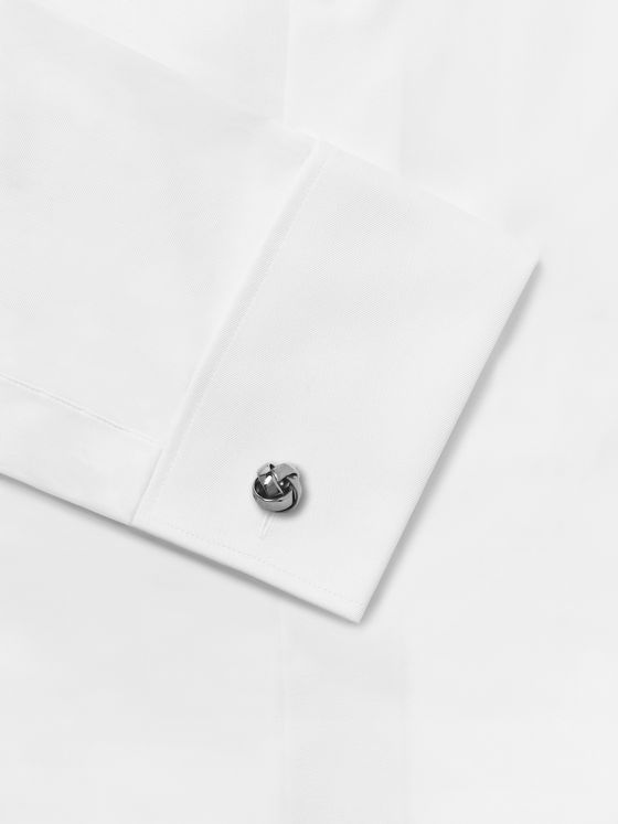 Hugo Boss Knotted Silver-Tone Cufflinks