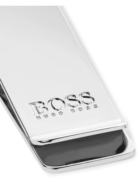 HUGO BOSS Majestic Logo-Engraved Silver-Tone Money Clip